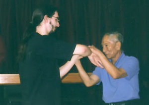 Peter Foreman training with Grandmaster Ip Chun