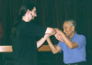 Peter Foreman training with Grandmaster Ip Chun